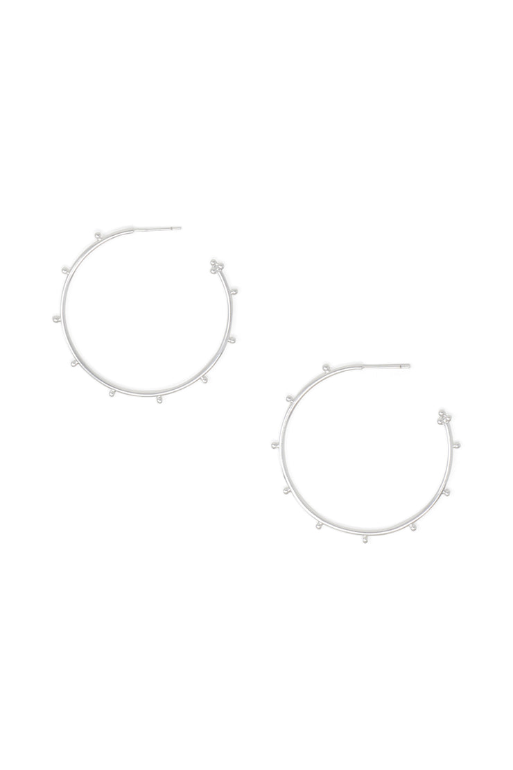 Ashley Childers, Ball Silver Hoops, Medium