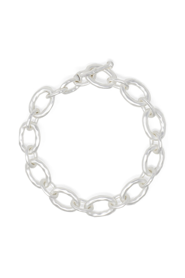 Ashley Childers, Classic Silver Link Bracelet
