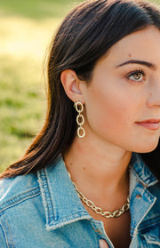 Ashley Childers, Classic Silver Link Earrings