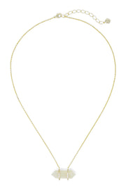 Ashley Childers, Double Point Necklace, Moon Stone