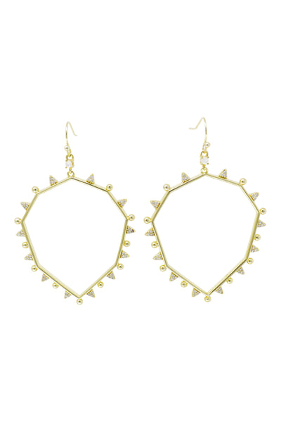 Ashley Childers, Geo Gold Drop Earrings