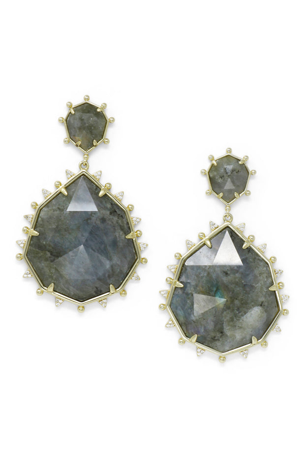 Ashley Childers, Geo Labradorite Statement Earrings