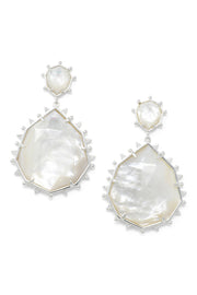 Ashley Childers, Geo Mother of Pearl Statement Earrings