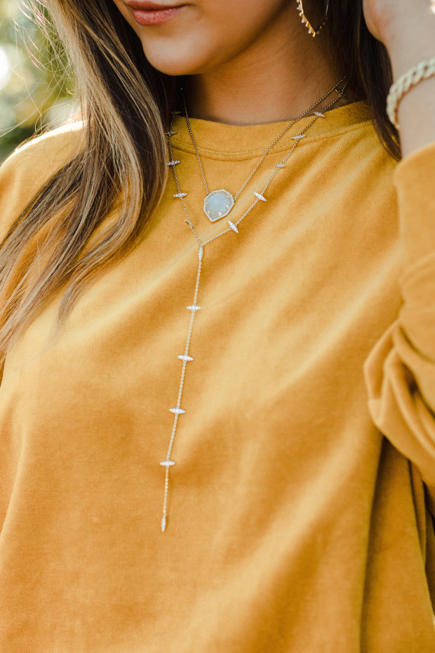 Ashley Childers, Thorn Lariat Necklace