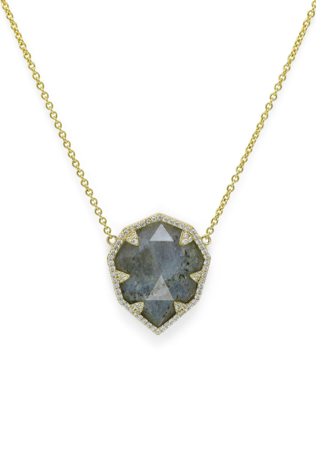 Ashley Childers, Geo Labradorite Necklace