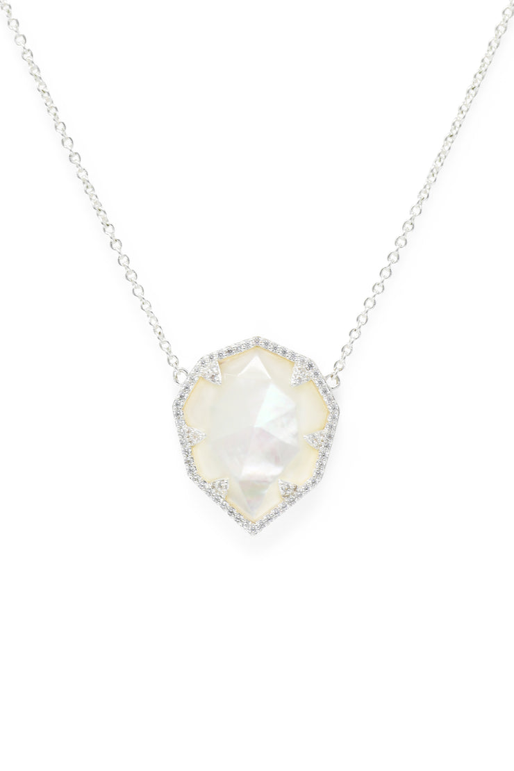 Ashley Childers, Geo Mother of Pearl Necklace
