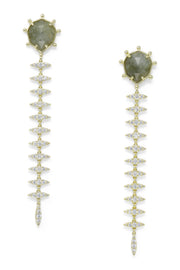 Ashley Childers, Geo Labradorite Thorn Earrings