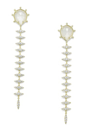 Ashley Childers, Geo Mother of Pearl Thorn Earrings