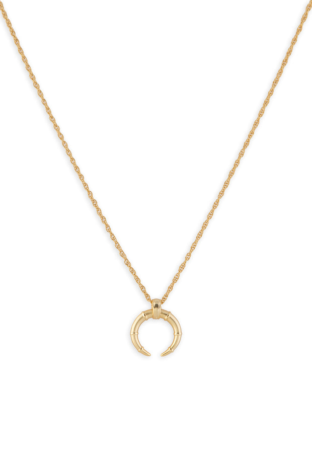 Hestia Horn Necklace, Gold
