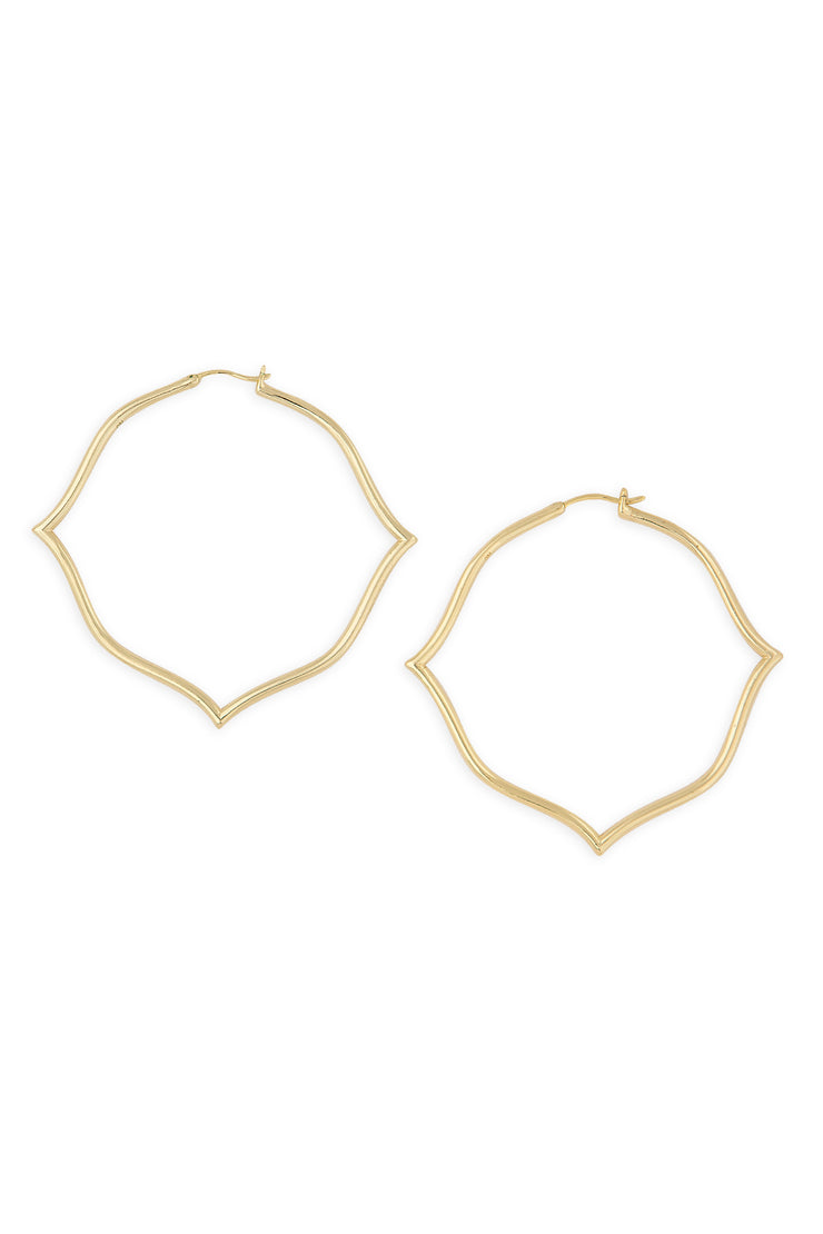 Ashley Childers, Signature Gold Hoops, Large