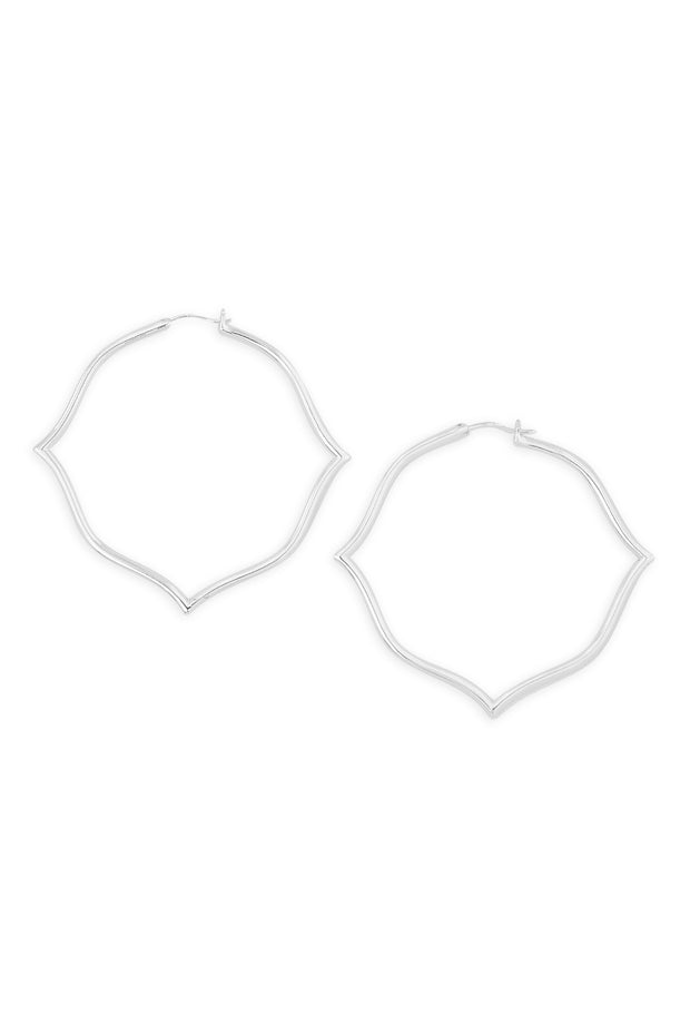 Ashley Childers, Signature Silver Hoops, Large