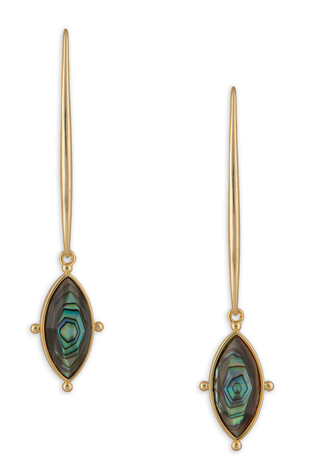Lauren Earrings, Abalone