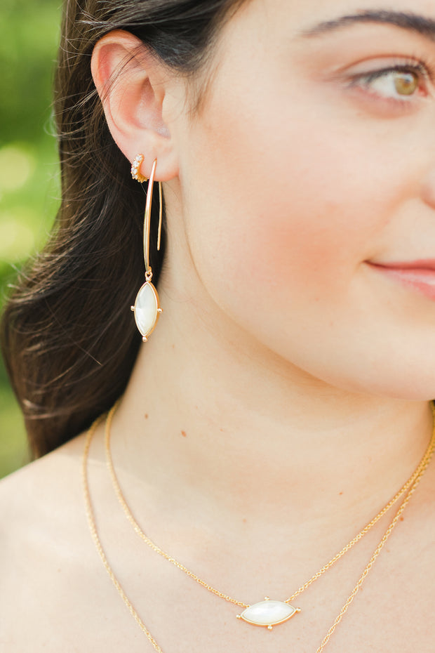 Ashley Childers, Lauren Earrings Ivory MOP