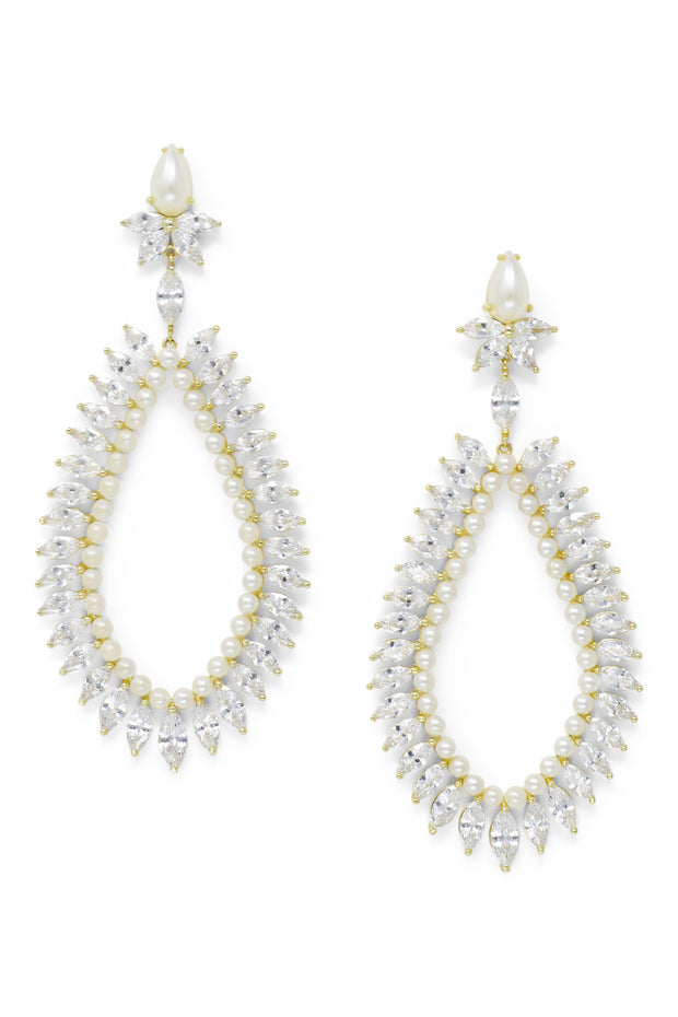 Ashley Childers, Marquise Statement Earrings