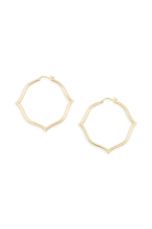 Ashley Childers, Signature Gold Hoops, Medium