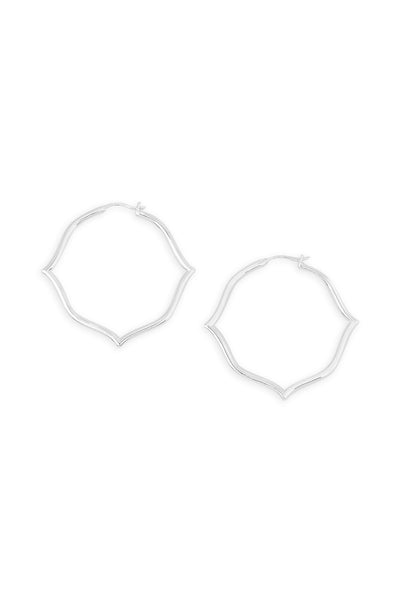 Ashley Childers, Signature Silver Hoops, Medium