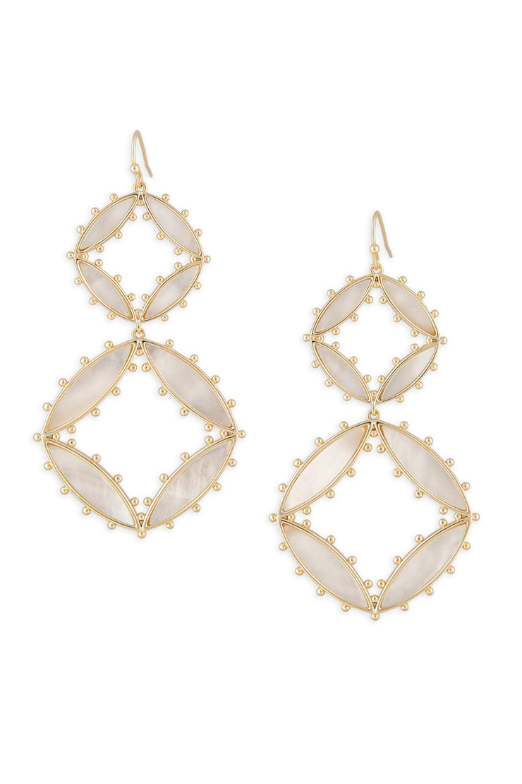 Ashley Childers, Preston Double Drop Earrings