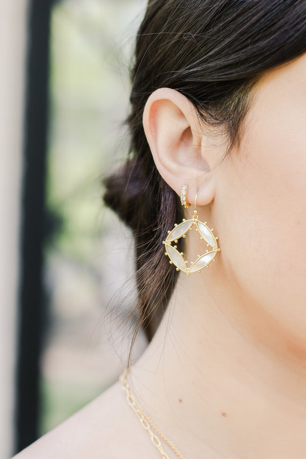 Ashley Childers, Preston Earrings in Ivory Mother of Pearl