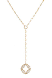 Ashley Childers, Preston Lariat Necklace in Ivory MOP