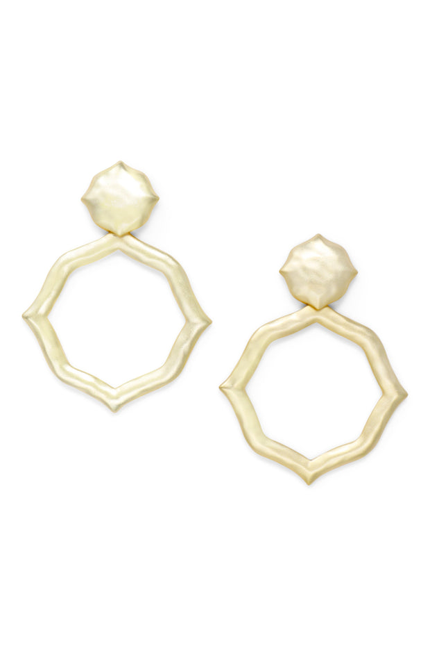 Ashley Childers, Signature Hammered Earrings in Gold