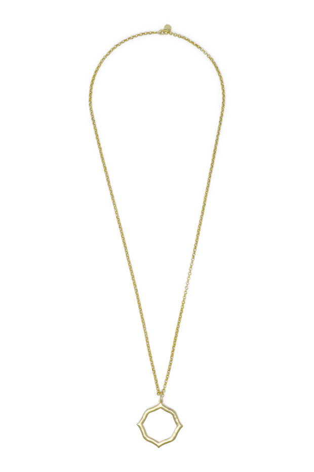 Ashley Childers, Signature Hammered Pendant in Gold