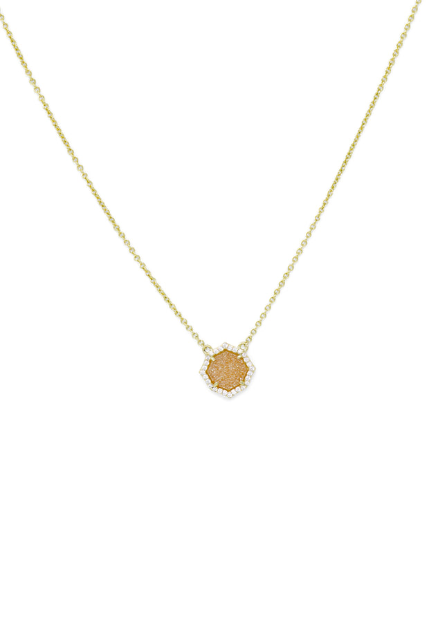 Ashley Childers, Signature Mini Necklace in Champagne Druzy