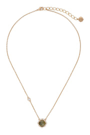 Ashley Childers, Signature Petite Labradorite Necklace in Rose Gold