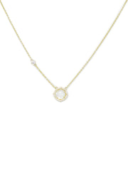 Ashley Childers, Signature Petite Mother of Pearl Necklace in Gold