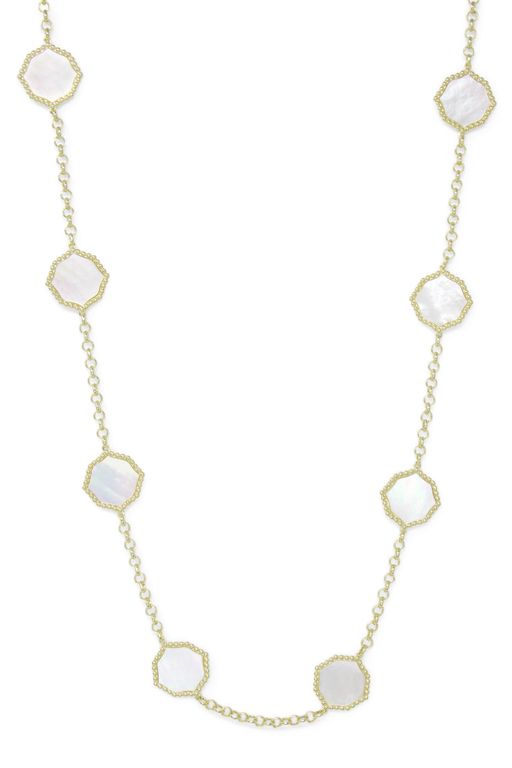 Ashley Childers, Signature Statement Necklace in Mother of Pearl