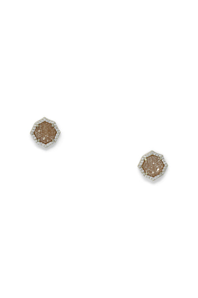 Ashley Childers, Signature Mini Stud Earrings in Champagne Druzy