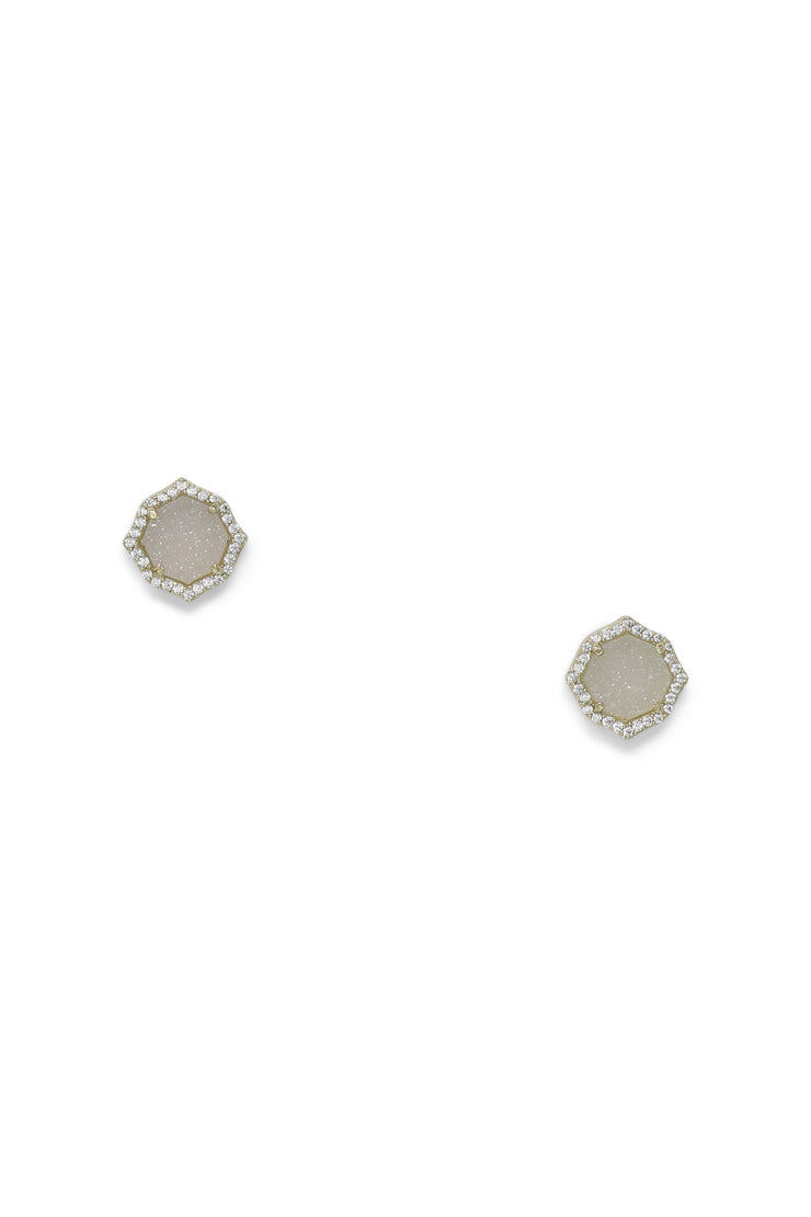 Ashley Childers, Signature Mini Stud earrings in Iridescent Druzy