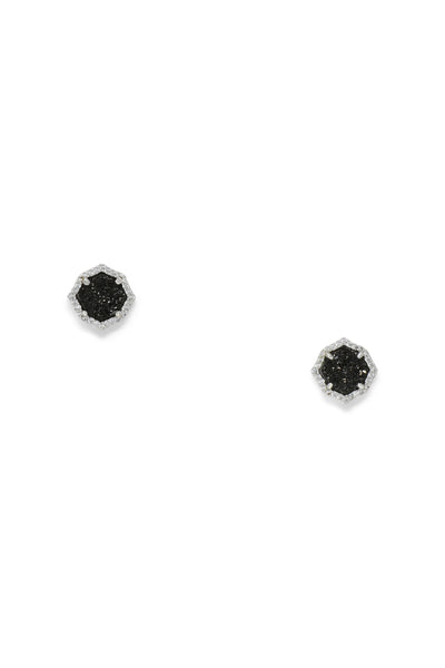 Ashley Childers, Signature Mini Stud Earrings in Black Druzy