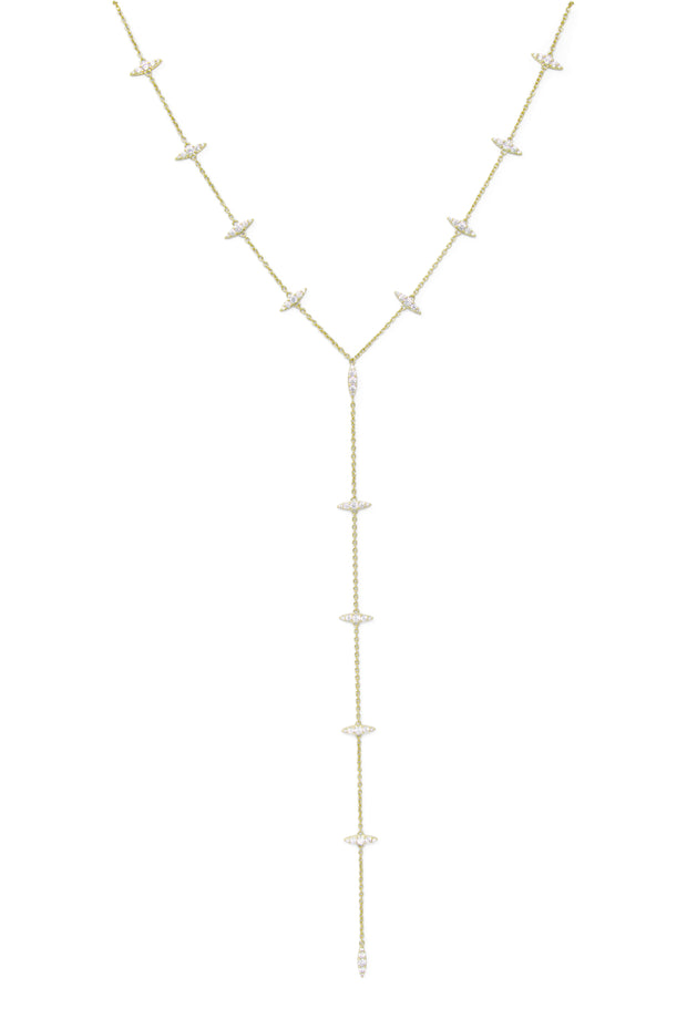 Ashley Childers, Thorn Gold Lariat Necklace