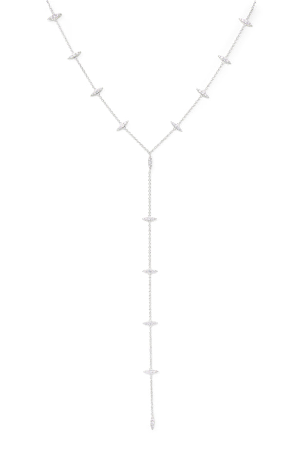 Ashley Childers, Thorn Silver Lariat Necklace