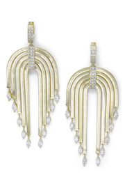 Ashley Childers, Waterfall Statement Earrings in Gold