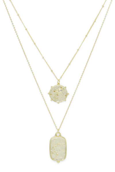 Ashley Childers, Zodiac Layered Necklace, Aquarius