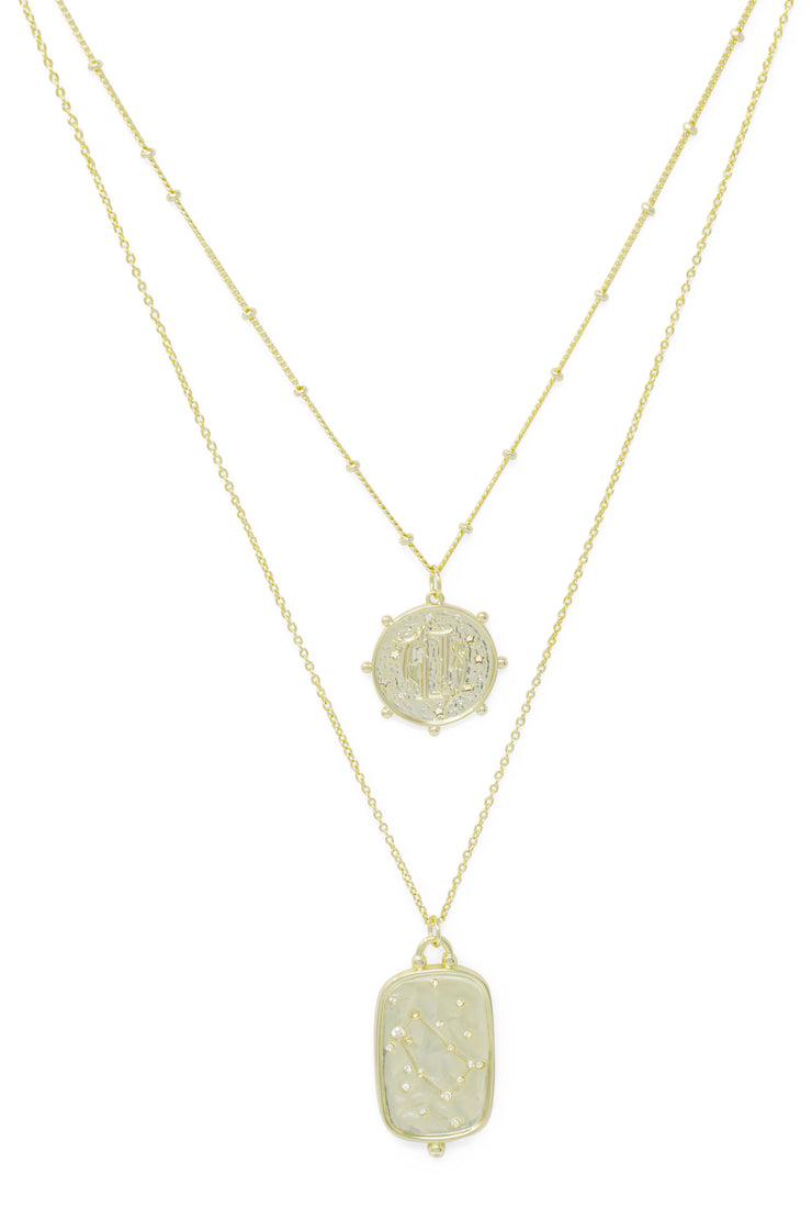 Ashley Childers, Zodiac Layered Necklace, Gemini