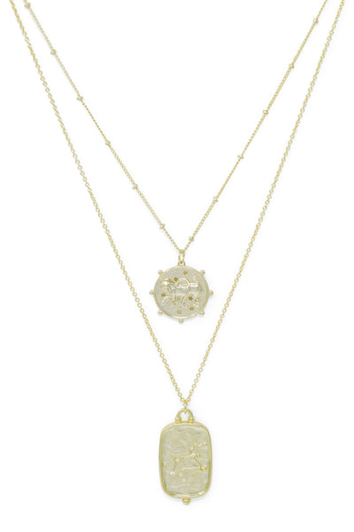 Ashley Childers, Zodiac Layered Necklace, Leo