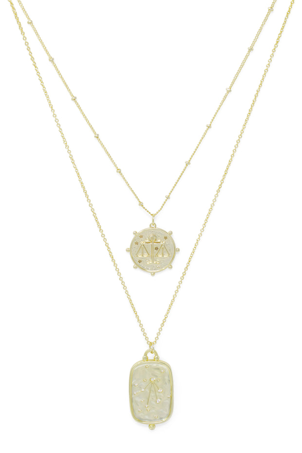 Ashley Childers, Zodiac Layered Necklace, Libra
