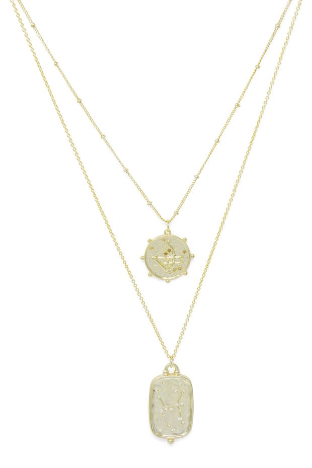 Ashley Childers, Zodiac Layered Necklace, Sagittarius