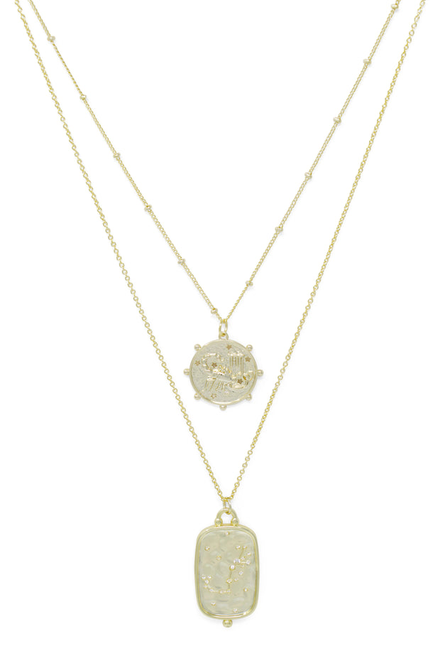 Ashley Childers, Zodiac Layered Necklace, Scorpio