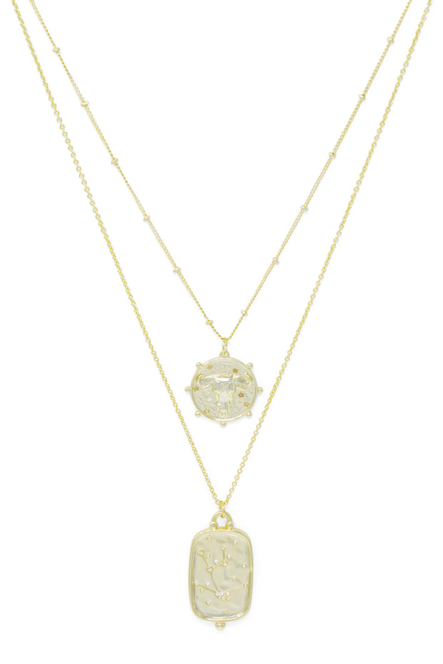 Ashley Childers, Zodiac Layered Necklace, Taurus
