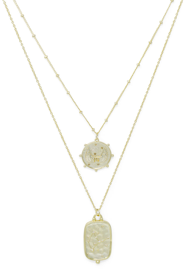 Ashley Childers, Zodiac Layered Necklace, Virgo