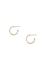 Ashley Childers, Matte Hammered Rose Gold Hoops, Petite