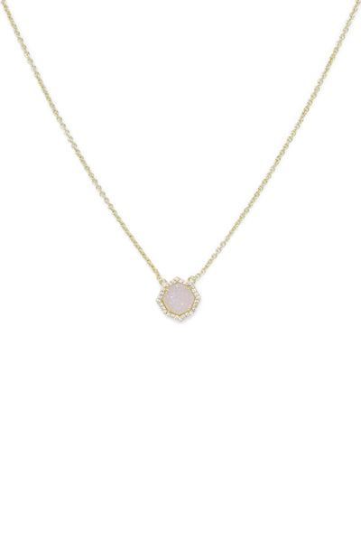 Ashley Childers, Signature Mini Necklace in Iridescent Druzy
