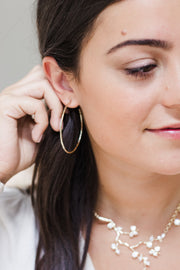 Ashley Childers, Matte Hammered Hoops, Medium