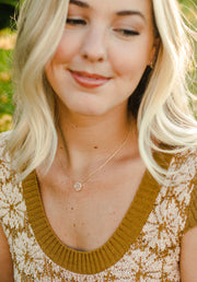 Ashley Childers Signature Mini Earrings and Necklace in Champagne Druzy