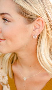 Ashley Childers Signature Mini Stud Earrings in Champagne Druzy delicate
