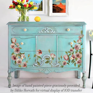 Painterly Florals Decor Transfer