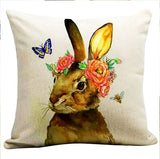 Bunny Nature Cushion Cover